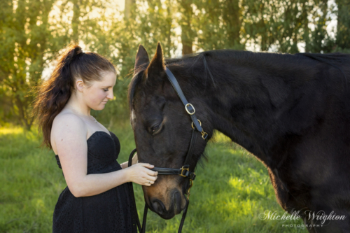 Standard bred horse and owner photograph