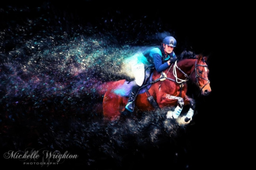 Artistic photo editing Dardanup Cross Country horse